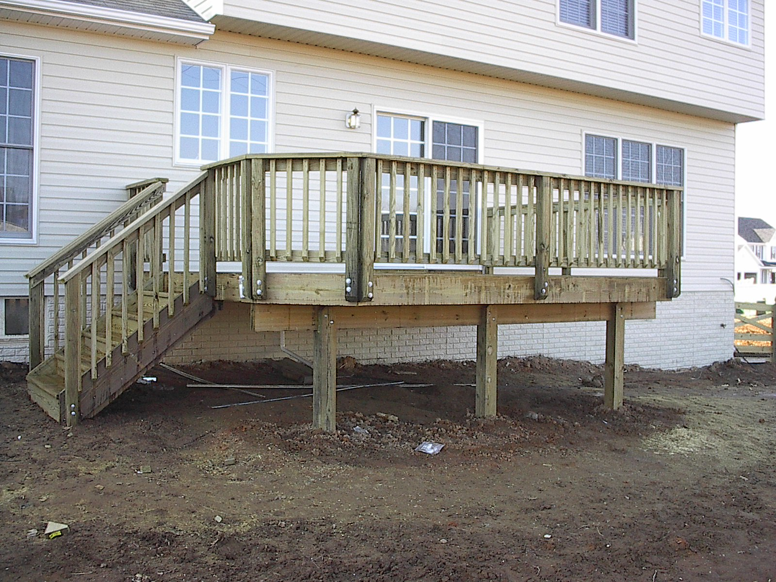 Signaturefence002g pressure treated decking rail baanklon Image collections
